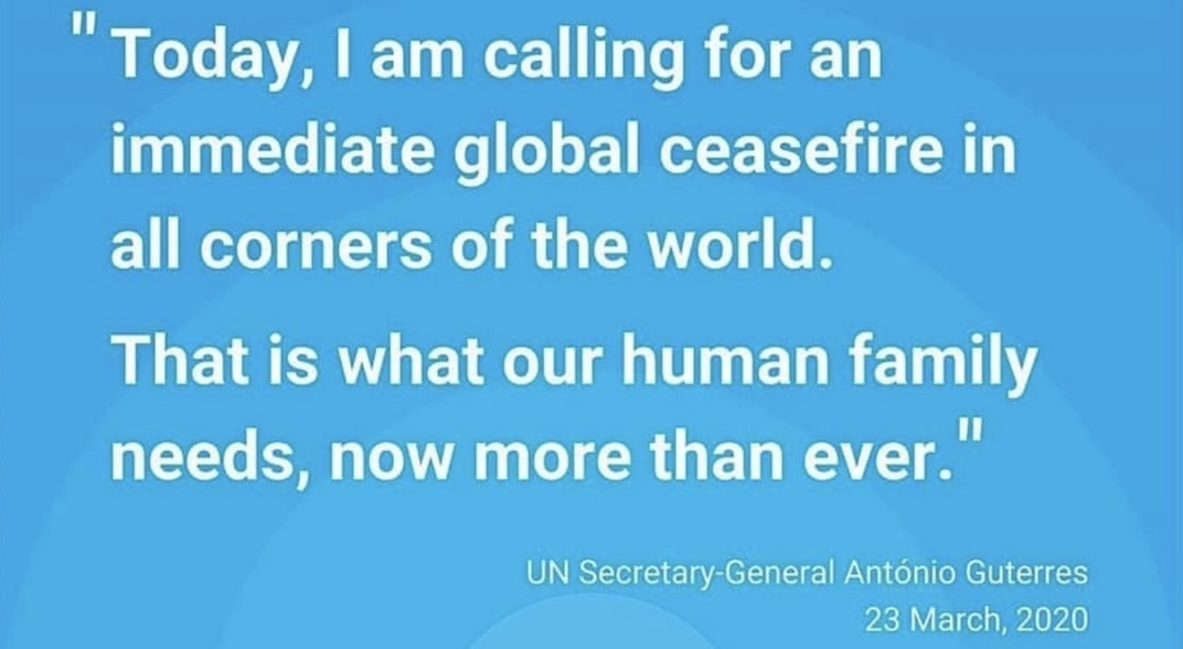 The MWMN has signed the UN Secretary General's Appeal for a Global Ceasefire