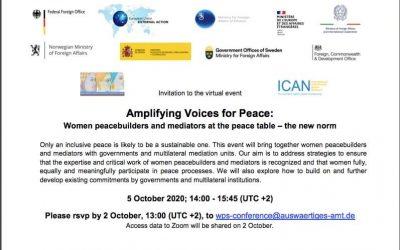 Amplifier les voix pour la paix : des Bâtisseuses de paix et des médiatrices à la table des négociations – la nouvelle norme