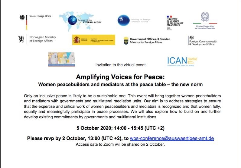 Amplifying voices for peace: Women peacebuilders and mediators at the peace table – the new norm