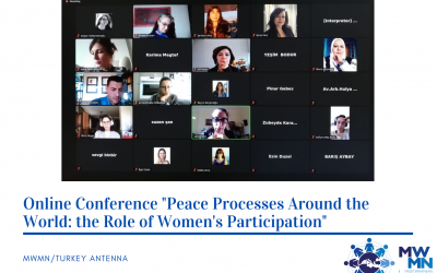 "MWMN/Turkey organises the Conference ""Peace Processes Around the World: the Role of Women's Participation"""